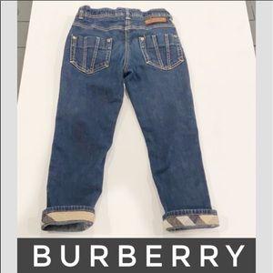Auth Burberry denim slim fit toddler jeans 2-3 T
